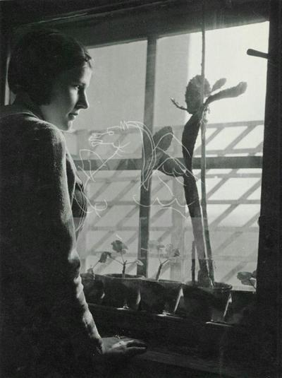 Littkei Erzsébet (Csibe) ablaknál