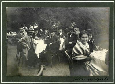 A Petőfi Társaság néhány tagja Hámorban