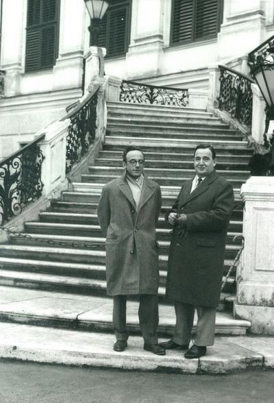 Thurzó Gábor az 50-es években egyik barátjával