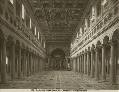 Roma - Interno della Basilica di S. Paolo fuori le mura