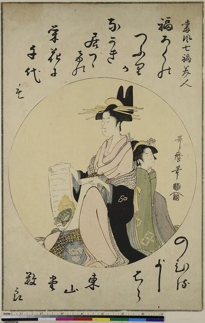 Fukurokuju, aus der Serie: Gruppe der sieben schönen Glücksgöttinen