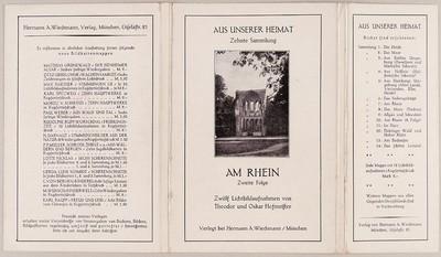 Am Rhein. Zweite Folge aus der Reihe Aus unserer Heimat