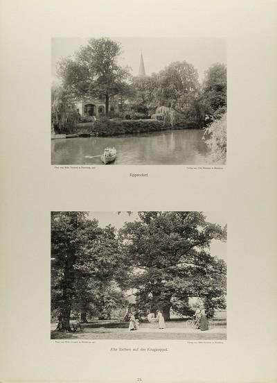 Eppendorf und Alte Eichen auf der Krugkoppel aus der Mappe Neue malerische Bilder aus der Freien und Hansestadt Hamburg und ihrer Umgebung