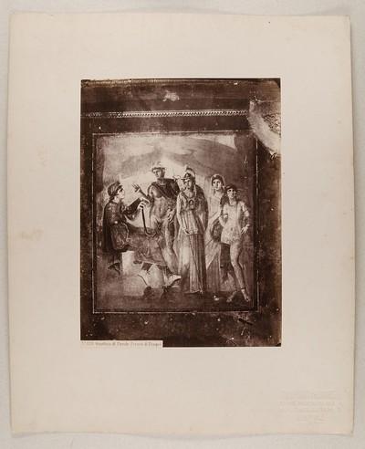 No. 1231 Giustizia di Paride. Fresco di Pompei