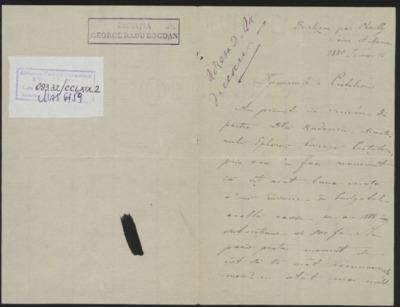 Scrisoare adresata domnului Cretzulescu