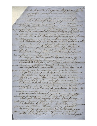 Scrisoare adresata unui destinatar neidentificat