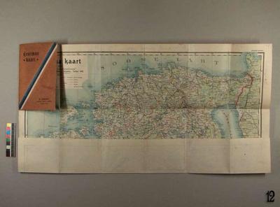 Map of Estonia 1:650000