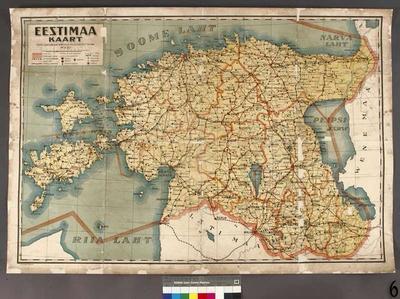 Map of Estonia, 1:400000