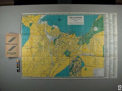 Tallinn city plan, 1:15 000*
