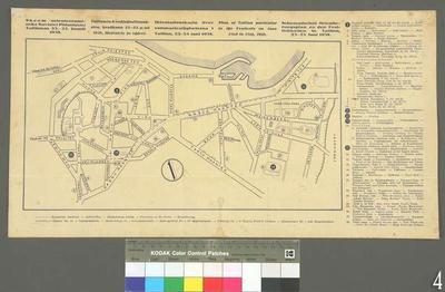 Orientation Plan for the Summer Festivities n Tallinn on 23–25 June 1938