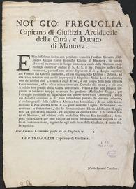 [Judgment in the case of the City of Mantua versus Alessandro Reggio].