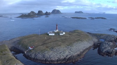 The lighthouses in the Vestfjord