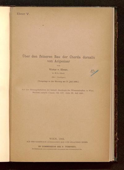 Über den feineren Bau der Chorda dorsalis von Acipenser : (vorgelegt in der Sitzung am 11. Juli 1895)