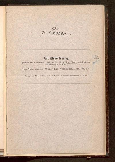 Antrittsvorlesung : gehalten am 5. November 1888
