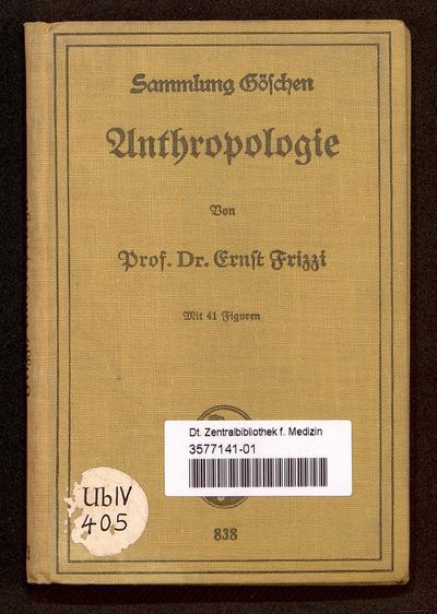 Anthropologie (Sammlung Göschen ; 838)