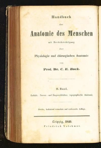 Handbuch der Anatomie des Menschen mit Berücksichtigung der Physiologie und chirurgischen Anatomie (2)
