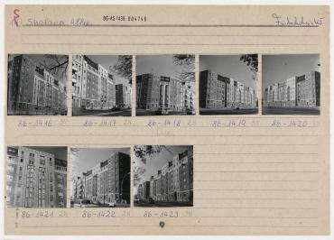 Wohnungsbau Stralauer Allee. Berlin, Friedrichshain, Stralauer Allee