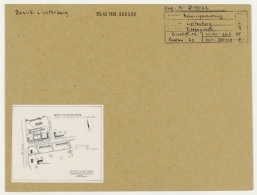 Bebauungsvorschlag Rittergutstraße. Berlin, Lichtenberg, Rittergutstraße (seit 1960 Josef-Orlopp-Straße)/Möllendorffstraße (1976-1992 Jacques-Duclos-Straße)