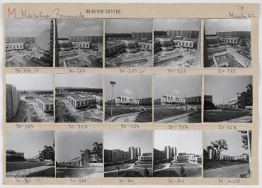 Gesamtansicht. Berlin, Marzahn, Heinrich-Rau-Straße (ab 1992 Märkische Allee)/Marzahner Promenade