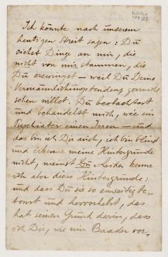 Brief von Raoul Hausmann an Hannah Höch, Berlin