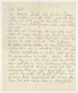 Brief von Hannah Höch an Grete König