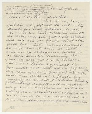 Brief von Nell von Ebneth an Hannah Höch [und Til Brugman]. [o. O.]