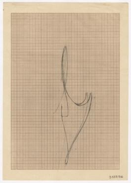 Bleistiftzeichnung auf Millimeterpapier
