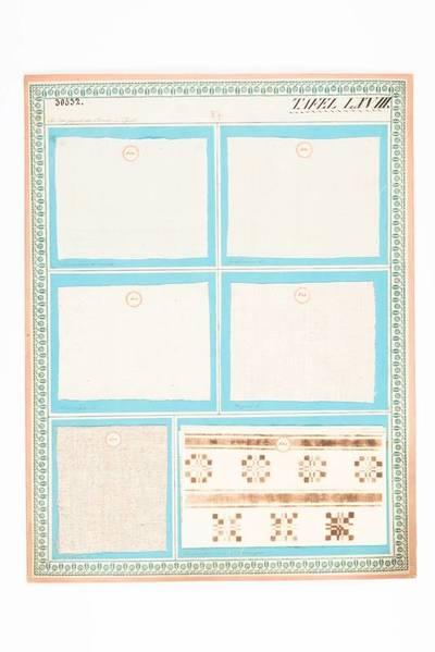 Feinharbene Leinwand; Grobharbene Leinwand; Leinwergene Leinwand; Wergene Leinwand; Rupfene Leinwand; Zeichnungen von Tischzeugen