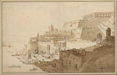Blick auf den Hafen und die Bastionen von Valletta (Malta)