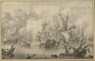 Die Seeschlacht bei Terheide (10. August 1653)