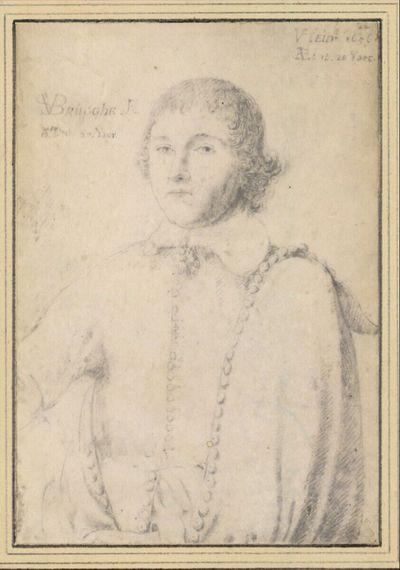 Jan van der Heyden, 20jährig, in Halbfigur