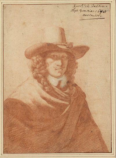 Porträt des Künstlers mit Hut und Mantel