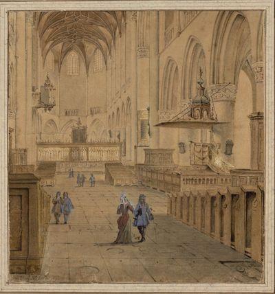 Blick in den Chor von St. Bavo in Haarlem