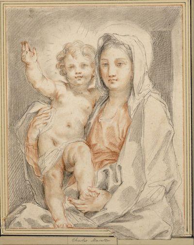 Maria mit dem Kinde in Halbfigur