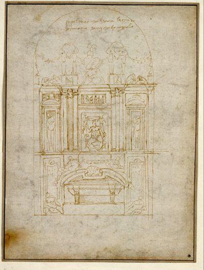 Entwurf für das Grabmal des Lorenzo de'Medici