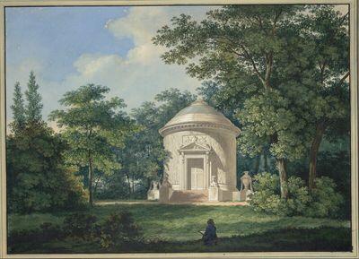 Der Tempel der Waldbotanik im Park von Schwetzingen