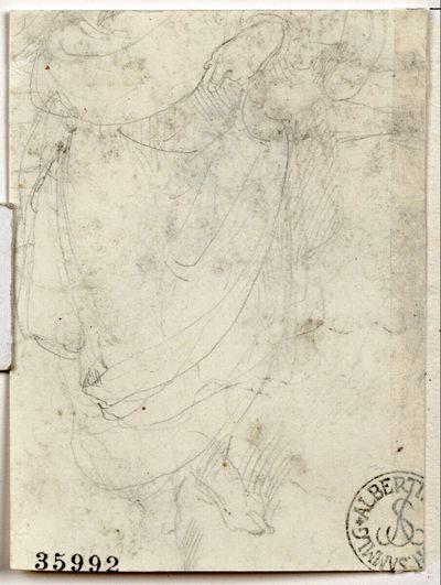 Gewandstudie (Fragment) (Blatt aus dem Liechtensteinalbum, sog. Fendi-Album)