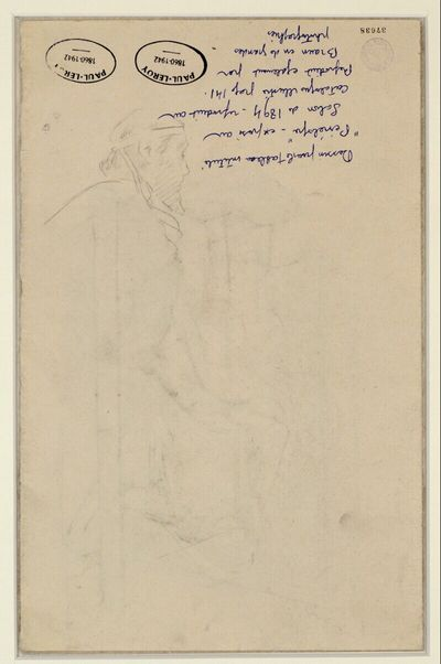 Sitzender, bärtiger Mann nach rechts gewandt (Odysseus?)