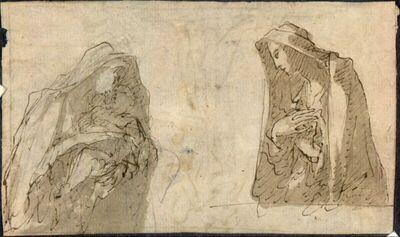 Studien einer Madonna mit Kind und einer zweiten Heiligen