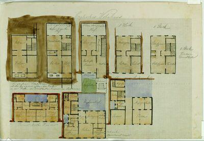 Englisches und Pariser Wohnhaus, Grundrisse