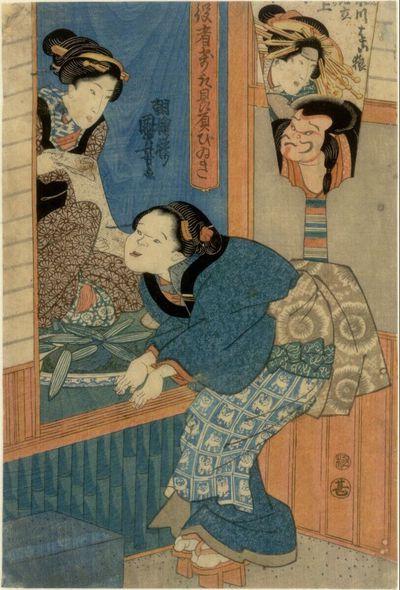 Zwei Mädchen (Teil eines Triptychons)