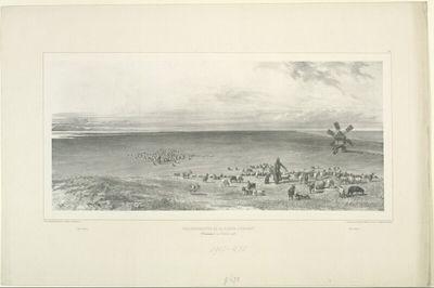 Vue perspective de la flèche d'Arabat, Crimée, 14 Octobre 1837