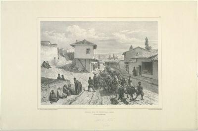 Grande rue de Baghtcheh-Sarai, Crimée, 19 Aout 1837