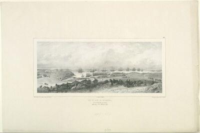 Vue du port de Sevastopol et de la flotte de la mer Noir, Crimée, 22 Aout 1837