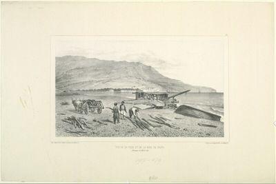 Vue de la ville et de la baie de Yalta, Crimée, 15 Aout 1837
