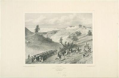 Vue de Tschioufout Galeh, Prés de Baghtcheh-Sarai, Crimée, 18 Aout 1837