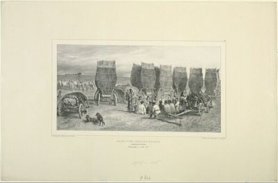Halte d'une carvane moldave, transportant du charbon, Bessarabie, 5 Aout 1837