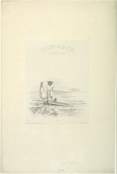 Hongrie, danube, 1837; Orpailleurs