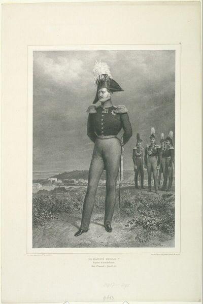 Sa majesté Nicolas 1.er, Empereur de toutes les Russies, Camp de Vosnessensk, 6 September 1837