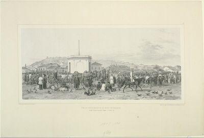 Kertsch, Vue du vieux bazar et du mont-mithridate, 8 Octobre 1837